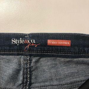 Style & co Jean size 8 tummy control dark wash